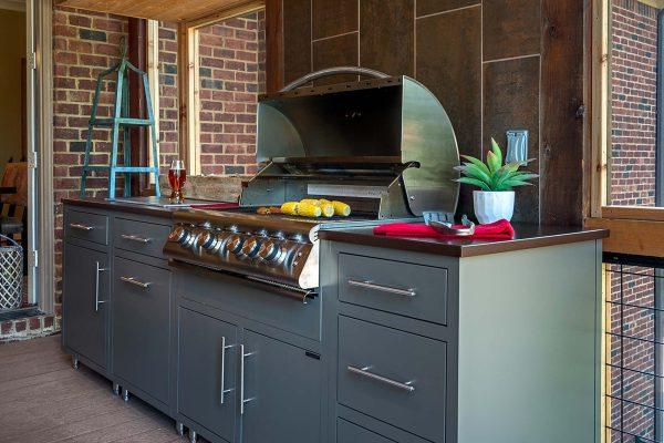 backyard kitchen built in grill jacksonville