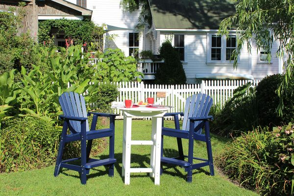 outdoor furniture jacksonville parrot blue with white bar height table
