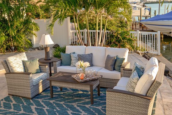 outdoor patio furniture adair sofa and chairs