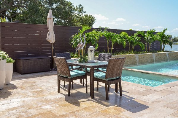 outdoor patio furniture wm seaside dining table four chairs