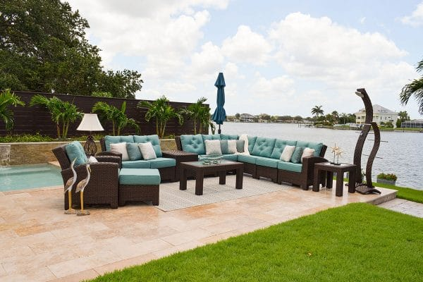 outdoor patio furniture wm seaside sofa chair set
