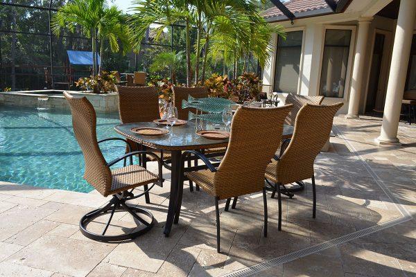 patio furniture jacksonville capetown dining set