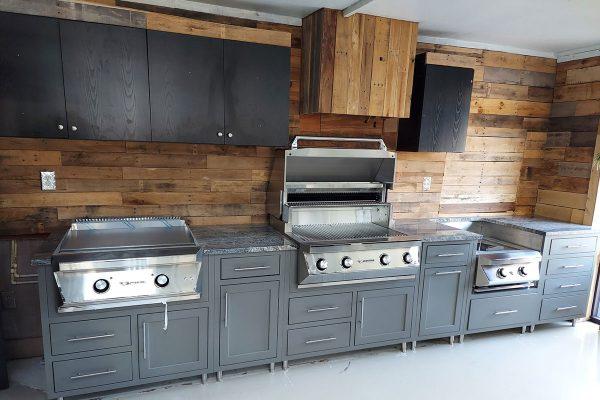 outdoor kitchen showroom florida garage patio